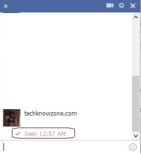 How to stop seen option in facebook chat