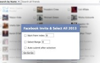 How to invite all your fb friends at once to your page or event in google chrome or firefox