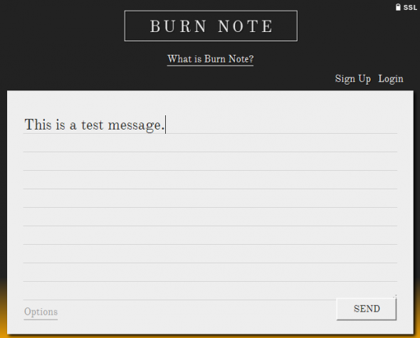 how to send message with self destruct - Burn note compose note