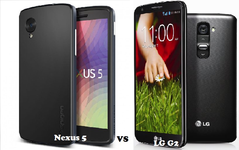 comparison of Nexus 5 vs LG G2 and differences