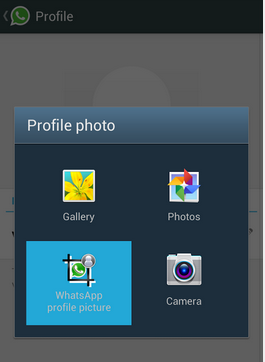 How to set whats app profile pictures without cropping