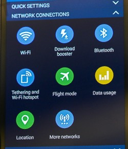 how to use Download Booster in Galaxy s5