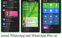 how to install whats app in nokia x x+ and xl