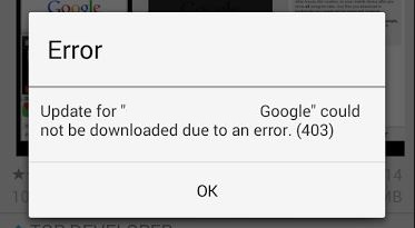 how to fix or solve could not be downloaded or updated due to error. (403)