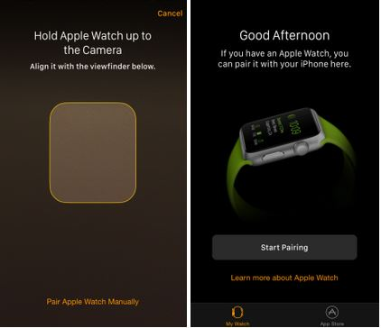 how to tell if apple watch is connected to iphone