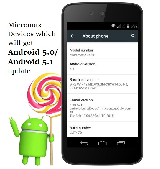 android 5 0 and 5 1 lollipop update for micromax phones updated techknowzone