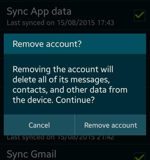 How to remove Google Account from Android device ...