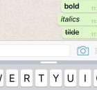 How to type bride italics and strikethrough in iphone