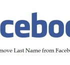 How to remove last name from Facebook profile